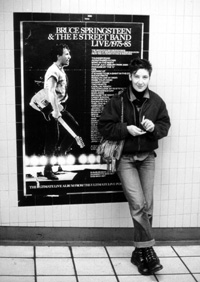 Wally Eisenhauer mit Bruce Springsteen, London 1986